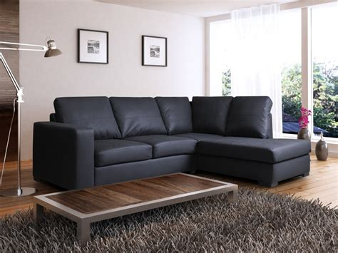 Cheap Corner Sofa by Westpoint Faux Leather Corner Sofa Black Right Leather
