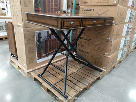 costco sit stand desk turnkey powered sit and stand desk