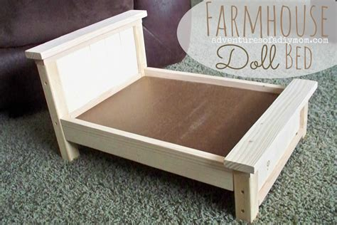 ana white build a doll farmhouse bed free and easy diy diy farmhouse doll bed for american girl dolls