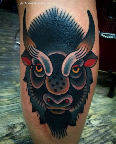 buffalo skull tattoo 37 best images about kyle giffen tattoos on
