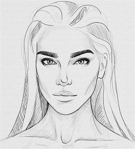 girl face drawing a girl face drawing www pixshark com images galleries
