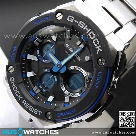 G Shock Casio Rantai Stainless Steel Gsts4 buy casio g shock analog digital solar stainless steel band sport gst s100d 1a2 gsts100d