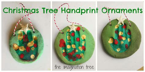 salt dough handprint christmas tree ornaments the
