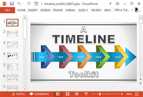 Animated Timeline Generator Template For Powerpoint Timeline Generator Printable