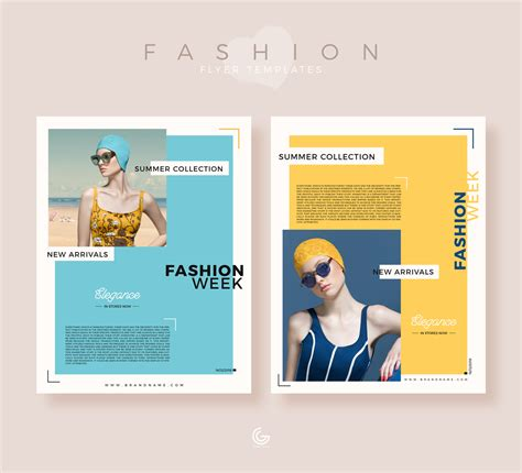 fashion flyers templates for free free summer collection fashion flyer templates for 2019