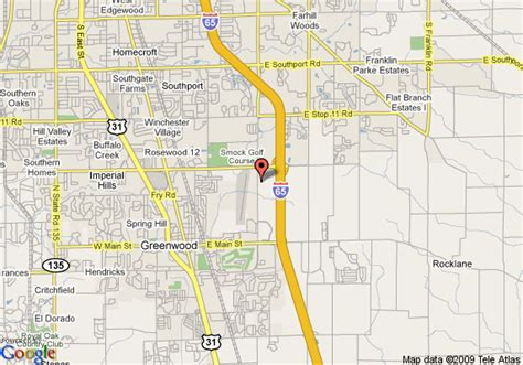 map of holiday inn express hotel suites greenwood greenwood