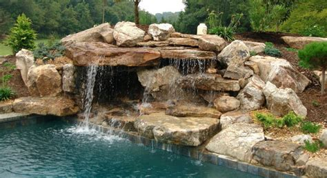 pool waterfalls water falls for pool bullyfreeworld com