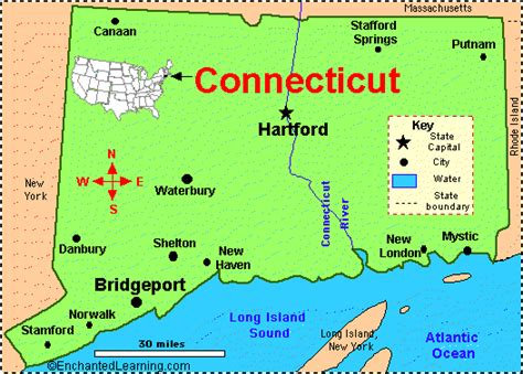 us map connecticut connecticut facts map and state symbols