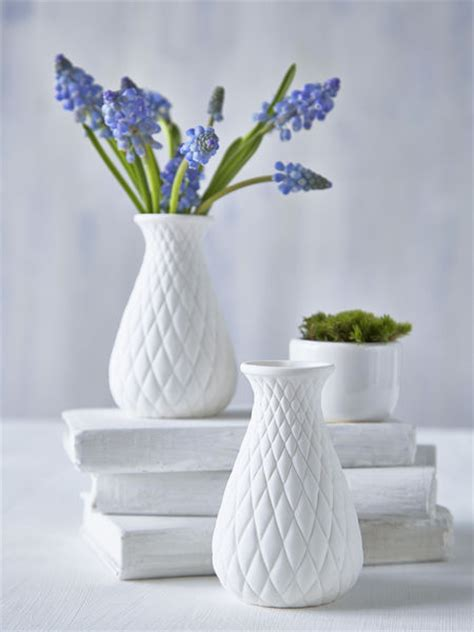 Small White Vases by Small White Vase Nordic House
