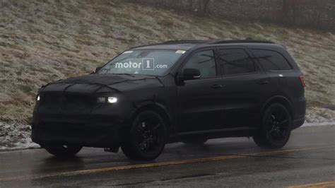 black durango srt dodge durango srt spied dressed entirely in black