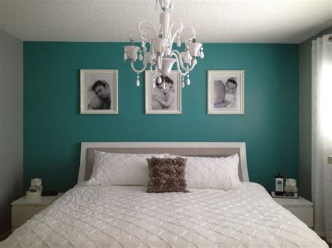 teal accent wall grey and teal bedroom paint colors for the home