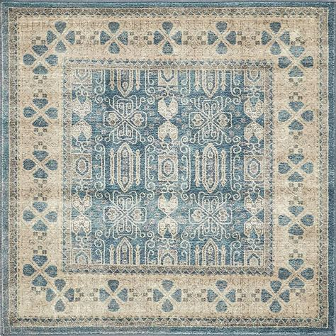 5 foot square rug unique loom salzburg light blue 5 ft x 5 ft square rug 3138310 the home depot