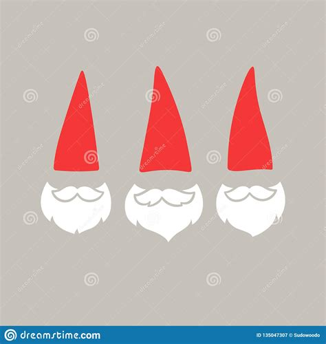 scandinavian christmas traditional gnome tomte illustration cartoon vector cartoondealercom