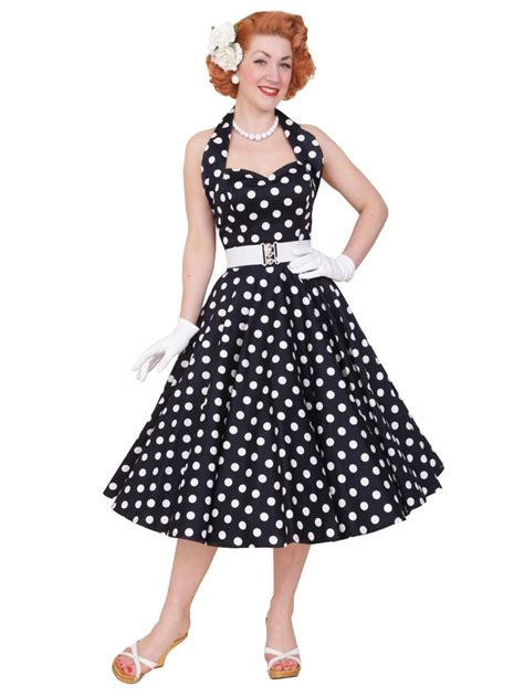 Navy Halter Neck Dress by 1950s Halterneck Navy Polkadot Dress From Vivien Of Holloway