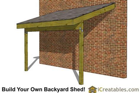 tarp lean   house  lean  shed plans open