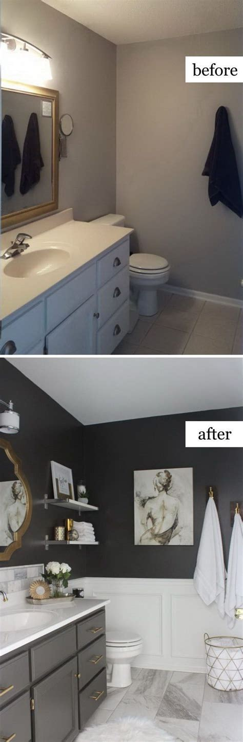 total transformation prior to the makeover this master 28 best budget friendly bathroom makeover ideas and