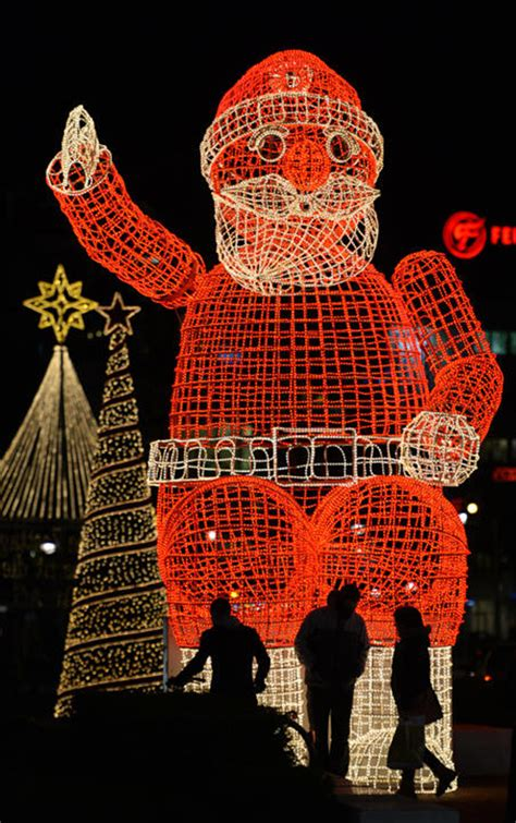santa claus christmas lights
