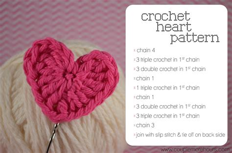 crochet heart pattern video crochet heart pattern creatys for