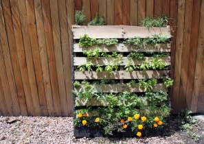 Vertical Pallet Gardens Diy Inspiration The Vertical Herb Garden To The Bones