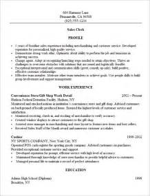 Information Assistant Sle Resume by Sales Resume Retail Sales Resume Exles Retail Sales Associate Resume Retail Sales