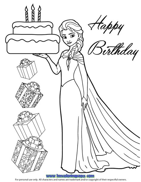 frozen coloring pages birthday h m coloring pages
