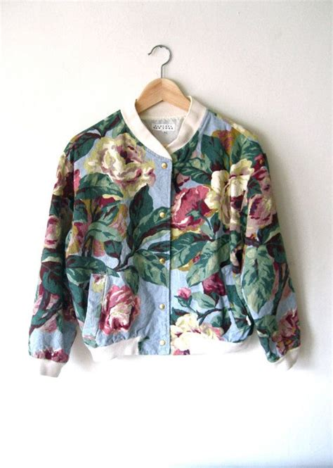 Blue Floral Boomber Printing 1000 ideas about vintage flower prints on