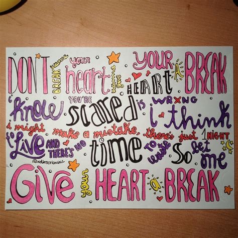lyrics to demi lovato give your heart a break demi lovato quot give your heart a break quot lyrics drawing im