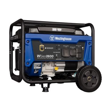 westinghouse wgen 3 600 4 650 watt gasoline powered