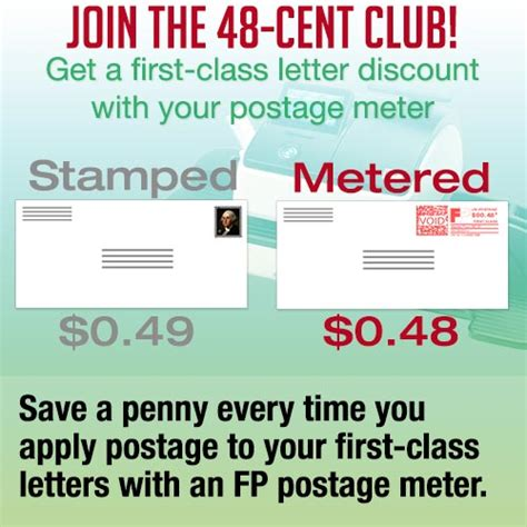 Application Letter To Join A Club The 48 Cent Club Postage Meters Now Provide Class Letter Discount Fp Mailing Solutions