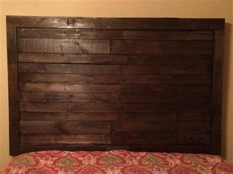 king size wood headboard reclaimed pallet king size headboard 101 pallets