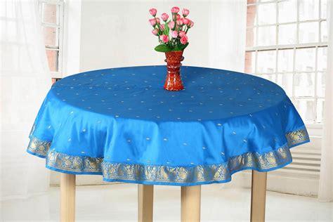 Handmade Table Cloths - blue gold handmade sari tablecloth india ebay