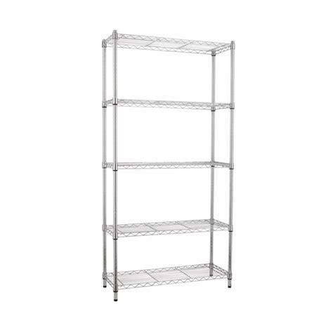 estante spaceo estante multiuso metal cinza 180x90x35cm spaceo leroy merlin