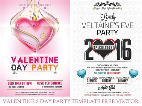 valentines day flyer template free s day flyer templates 2016 free