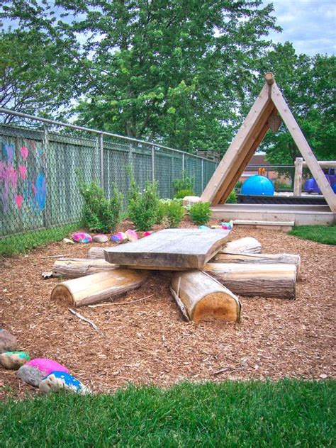 natural playground ideas backyard discovery table at lakeshore daycare natural playground