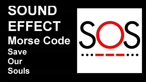 sos morse code sound effect youtube