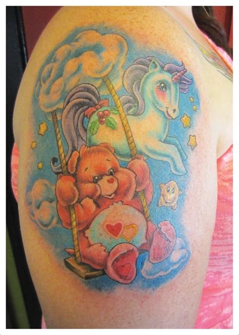 care bear tattoos designs care my unicorn unicorn tattoos