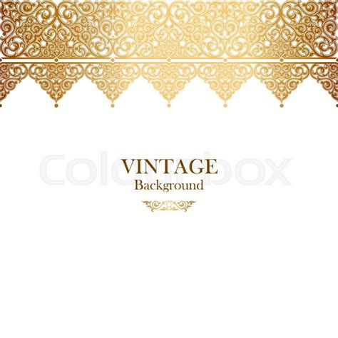 Wedding Border Vector by Vintage Vector Card In Islamic Style Seamless Lace