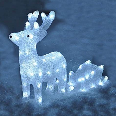 reindeer and sleigh christmas led light decoration by