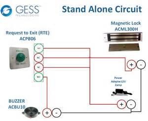 wireless magnetic lock wiring diagram get free image