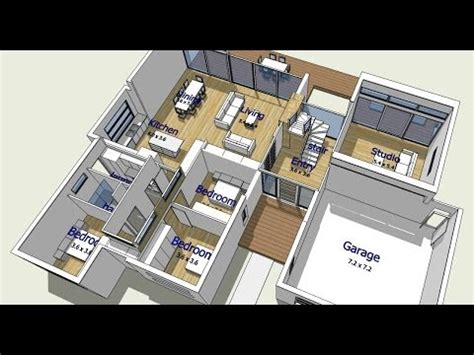 create house plans free design your own house an introduction to trebld and sketchup tutorials part 1