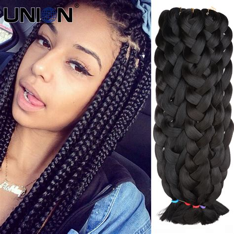 extention braid hairstyles kanekalon jumbo braids braiding hair synthetic heat