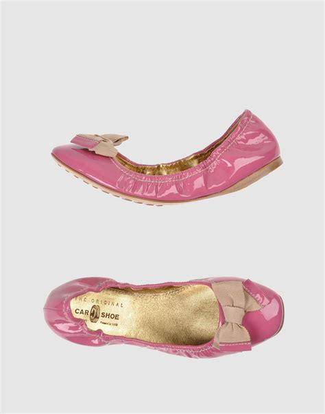 pink ballet flat shoes car shoe ballet flats in pink lyst