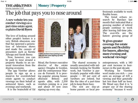 the times money section viewber the times write about viewber one year on