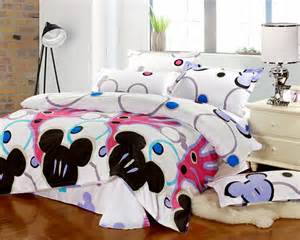 size mickey mouse bedding 100 cotton and black