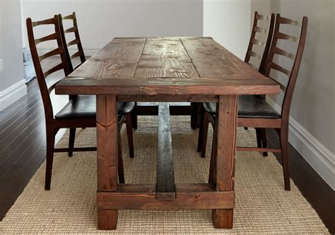 build a rustic dining room table build this rustic farmhouse table woodprix