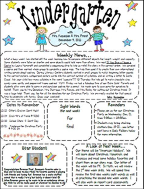 The Kinder Quot Garden Quot Teacher Weekly Newsletter Template Monthly Preschool Newsletter Template
