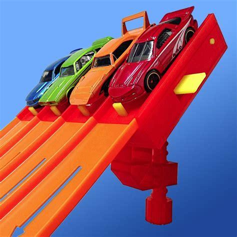 Hotwheels Four 1 Putih 4 magnetic raceway start gate for wheels cars