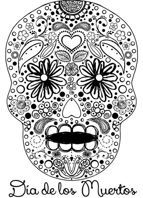 day of the dead art coloring pages celebrate the day of the dead with scrapbook paper arts