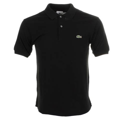 Polo Shirt Black lacoste polo t shirt in black for lyst