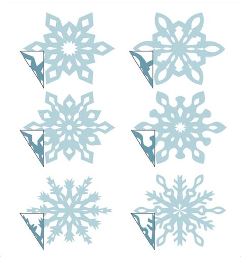 snowflake template 7 free pdf download